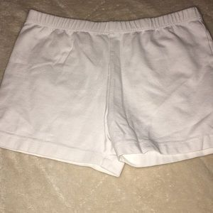 White Cartwheel Shorts